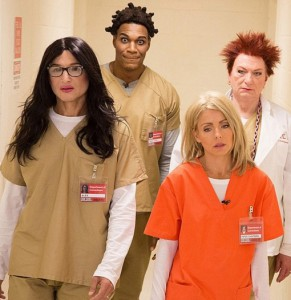 Become an Orange is the new black character by wearing some scrubs!