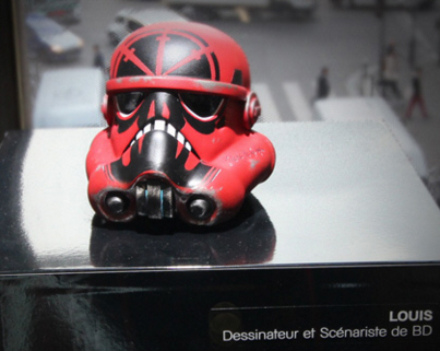 Stormtrooper helmet red