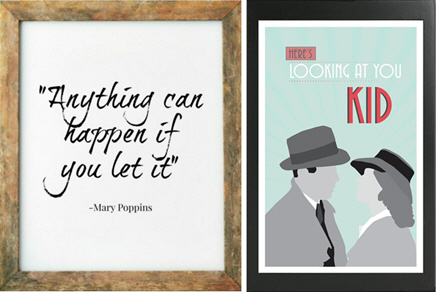 art print movie quotes