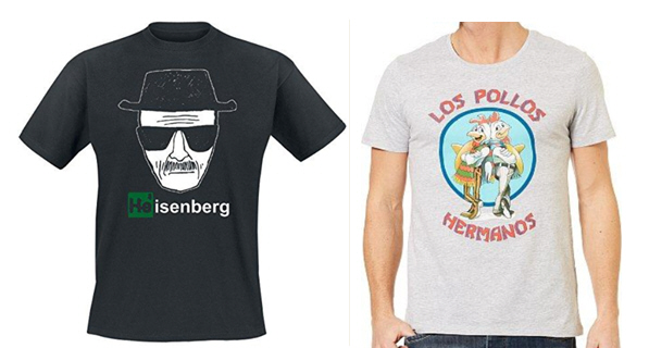 Breaking Bad Heisenberg tshirts presents